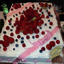 ケーキカットのかわいいケーキ