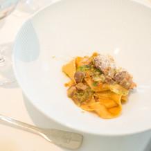 イタリアンらしくパスタ料理もあります。
