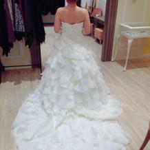 本番に選んだドレス。軽くて可愛かった。