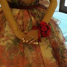 ドレスとネイルにはこだわりました。