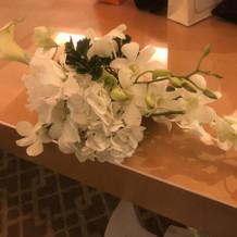 お花は最後ゲストへプレゼント