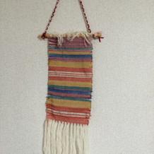 機織りの儀でできた大島紬