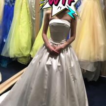 プラン内のセパレートタイプのドレス