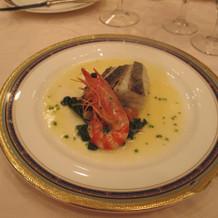 メインの魚料理
