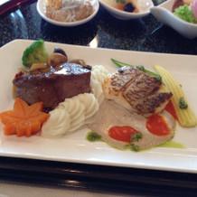 お肉とお魚料理
