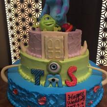 大好きなモンスターズインクのケーキ