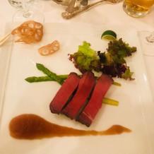 牛フィレ肉。柔らかくて人気でした。