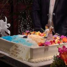 オーダーしたオリジナルケーキ
