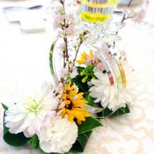 テーブルのお花も可愛かった