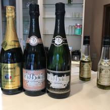式場で使うオリーブオイルとシャンパン