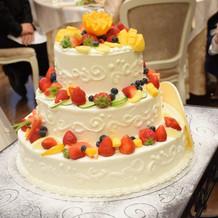 みんなで飾り付けたケーキ!