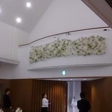 聖歌隊が入る二階