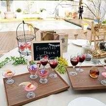 デザートビュッフェのテーブル