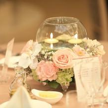可愛い卓上装花