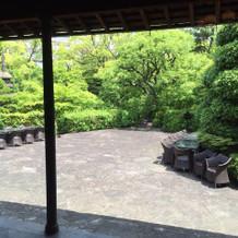 披露宴会場の中庭