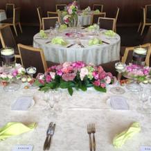 披露宴会場のメインテーブルから撮影