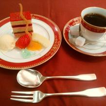デザート、コーヒー