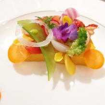 オマール海老と季節野菜のムース