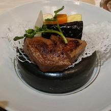 和食のメインから、国産牛の胡椒焼き。