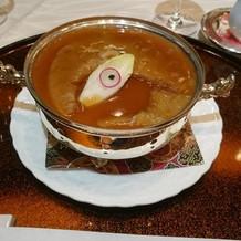 中華のコースから フカヒレの姿煮。