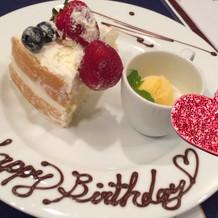 誕生日が近いゲストへお祝い