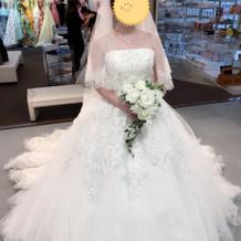 本番着用のドレス