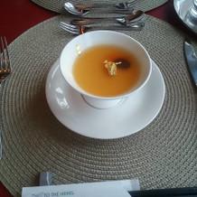 前菜に出た茶碗蒸しスープ