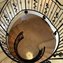 螺旋階段で写真を撮りました。