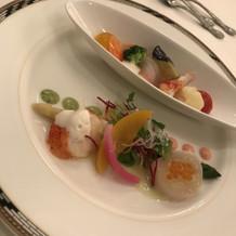 オマール海老と旬の魚のデュエット