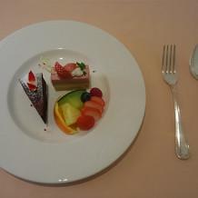 デザートのチョコレートケーキです。