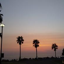夕日がきれいでした