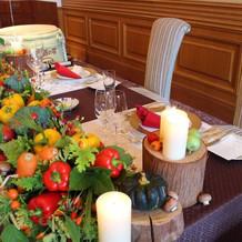 お野菜を使ったテーブルコーディネート