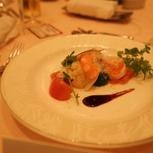 前菜は海鮮系で美味しかったです