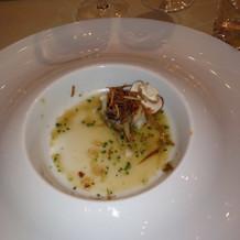 白身魚がふわふわで美味しい。