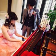 ピアノも置いてあります