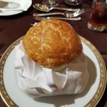 パイ包みのチャウダースープ