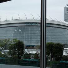 親族控室より見た東京ドーム