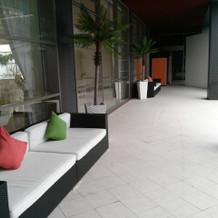ガーデン横のスペース