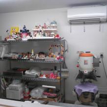ケーキ作りの部屋