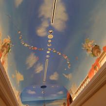 建物内の天井