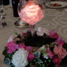 液体が光る演出(各テーブル)