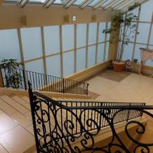 フラワーシャワー階段(上からみた図)
