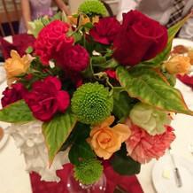 各卓の装花