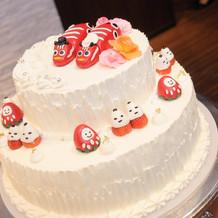 会津にこだわったウェディングケーキ