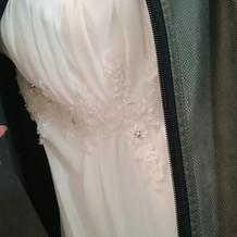 プラン内のドレス刺繍部分