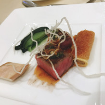 国産牛ロース肉のグリエと野菜のカエロニ