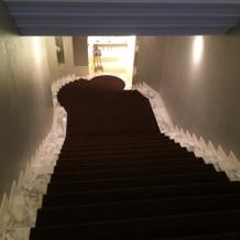 一番気に入った会場に入る時の階段!!!