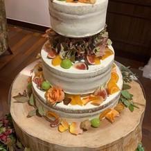 ケーキがとても可愛かった!