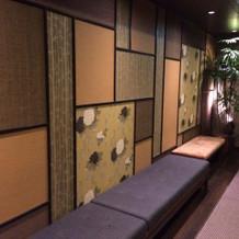 ゲストの控え室までの廊下