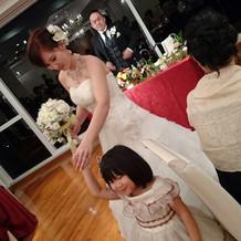 娘のドレスも借りました。